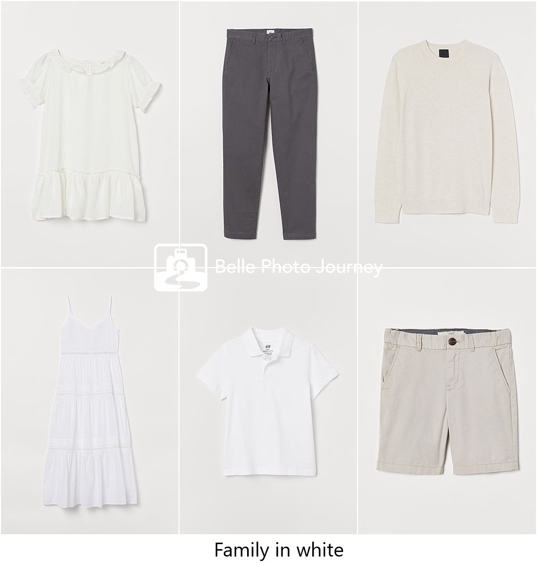 White clothes for family portraits